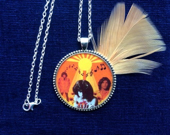 LIMITED EDITION! Jim Morrison Necklace/ 60s 70s Pendant/ Hippie, Music Festival/ Psychedelic Trippy Jewelry/ Gift