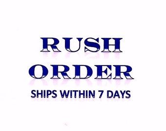 RUSH ORDER add if you need Plate painted and shipped in less than 7 days ( 1 per plate)