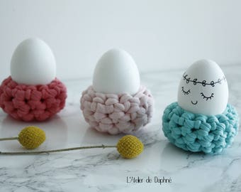 Egg cups to crochet