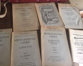 Metropolitan opera librettos