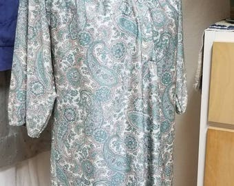 Paisley mini-dress medium