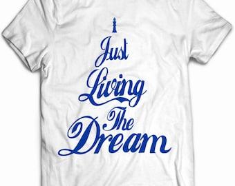 Workout Shirts For Men, Living the Dream Shirt, Livin the Dream T Shirt, Inspirational Shirts For Men, Motivational Gym Shirts For Men