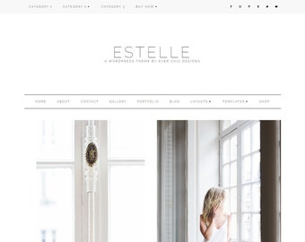Estelle - Feminine WordPress Theme - Genesis Child Theme - SEO - Responsive - Static Front Page - Slider - Ecommerce - Portfolio - Blog