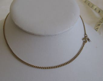 Sarah Coventry Choker Necklace Chain 13-1/2 Inches