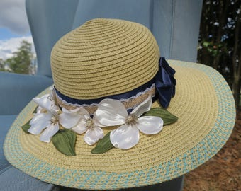 Easter bonnet, spring bonnet, garden bonnet, sun hat