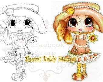 INSTANT DOWNLOAD Digital Digi Stamps Big Eye Big Head Dolls Digi Hattie By Sherri Baldy