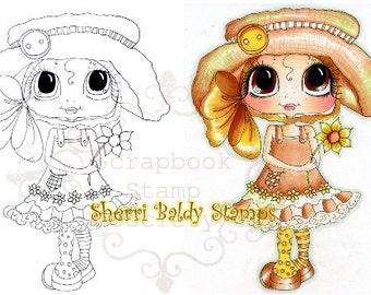INSTANT DOWNLOAD Digital Digi Stamps Big Eye Big Head Dolls Digi Hattie By Sherri Baldy