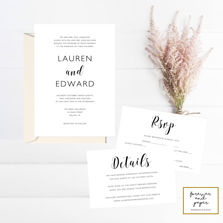Charmant Hochzeitseinladung Vorlage Herunterladen Bilder - Entry ...