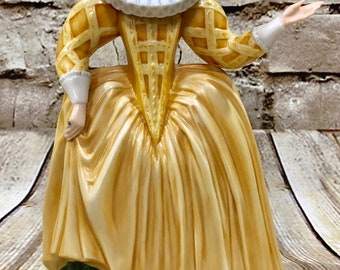 Franklin Porcelain Katherine The Galliard Figurine Museum of Costume 1983