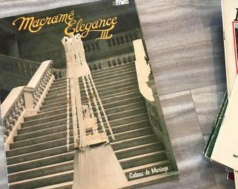 Macrame Elegance III | vintage macrame magazine, vintage magazine, boho decor, macrame, macrame instructions, wall hanging, woven art