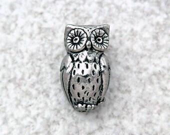 Green Girl Studios Horned Owl Pewter Bead