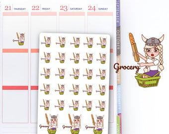 Little Girl Shopping,  Kawaii Shopping, Petite Girl, Girl Planner Sticker
