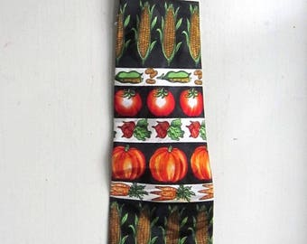 Vegetable Garden Farmers Market Novelty Neck Tie Fall-Herbs