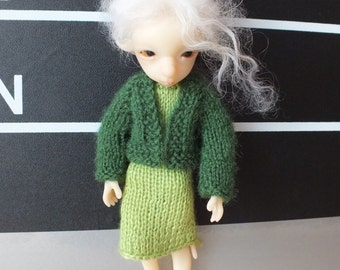 BJTales Lidia Snul Mouse BJD doll knitted dree jacket set green