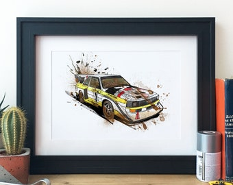 Audi S1 Group B Rally Car Illustration