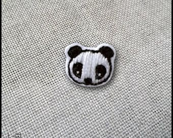 Brooch Panda black and white