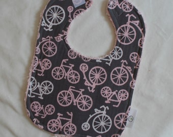 Pink Bicycles and Chenille Bib