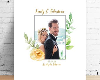 Wedding photo canvas Engagement gift for couple Wedding gifts for couple wedding gift personalized gifts for him gifts for her Gift for wife