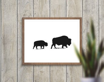 Buffalo Print, Instant Download, Downloadable Art, Home Decor Print, Instant Download Printable Art, Nursery Print
