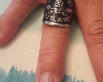 Support your local Outlaws Ring (SYLO) Size 11 stainless steel