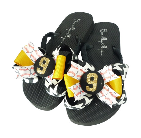 number more or Soccer white amp; orange choose player royal Flip Flops colors made custom with and and team Glitter Bow blue red black BBwqzZPp