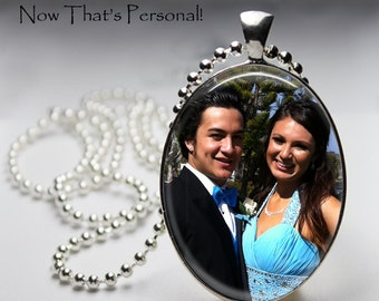 Custom Photo Necklace - Custom Photo Pendant - Personalized With Your Photo - Photo Necklace -  Photo Pendant - Oval pendant - Memorial