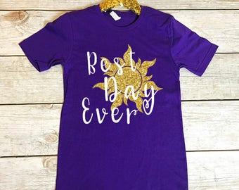 Disney Shirts | Disney Shirts for Women | Best Day Ever | Rapunzel Shirt | Women's Disney Shirt | Disney Rapunzel Shirt | Disney Matching