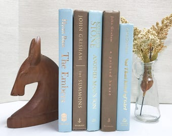 Brown and Blue Decorative Books