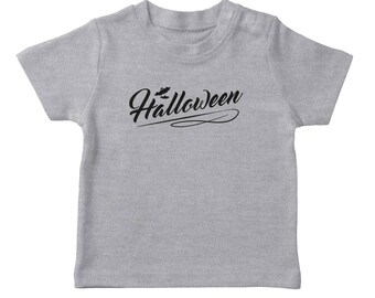 Halloween Classic Sign Flying Bats Boy's Heather Grey T-shirt
