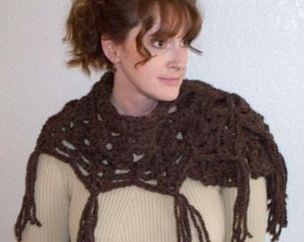 Pattern only// Woodsy Caplet// rustic crochet// womens Caplet