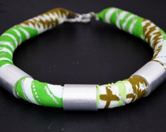 Wax- print Necklace