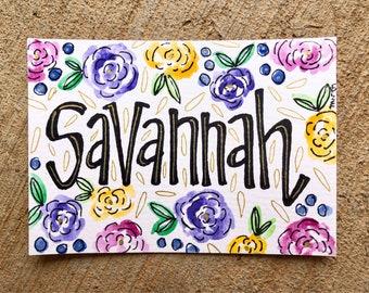 Little Girl Name Sign