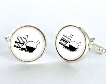 Chemistry Cufflinks, Science Cufflinks, gifts for chemistry teachers, Gifts for Science Teachers - science lover gift -science jewelry