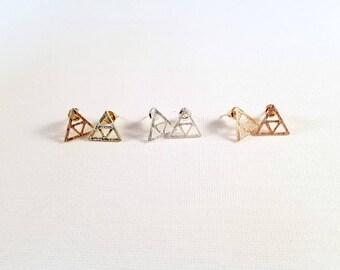 Triforce Stud Earrings - Inspired by The Legend of Zelda - Dainty Size!