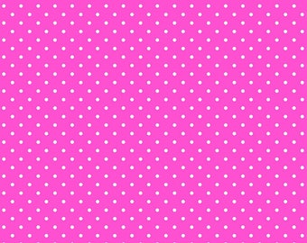Hot Pink Mini Dots (Dewdrops) From Blend Fabric's All is Bright Collection Collection by Maude Asbury