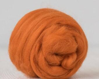 16 Micron ExtraSuperfine Merino Wool Top - Marigold - 4 ounces