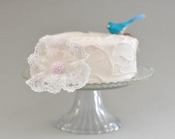 Lace flower Hair Clip,  bridal Lace Hair Flower, Wedding Lace Hair Flower Fascinator ,wedding hair Fascinator prom lace hair flower