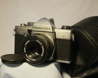 Praktica MTL3 Mechanical M42 SLR Camera Cased c/w Pentacon 50mm 1.8 Prime M42 Lens