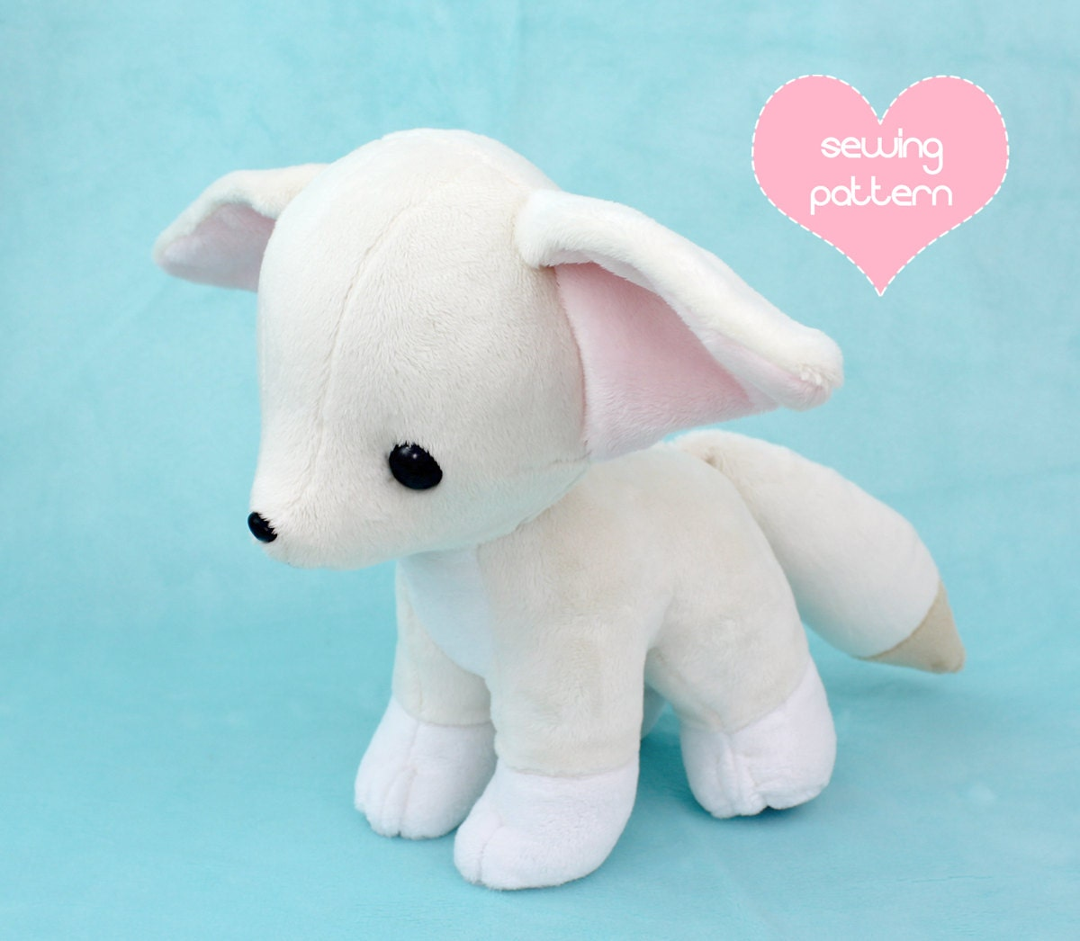 Pdf sewing pattern baby fennec fox stuffed animal with video zoom jeuxipadfo Choice Image