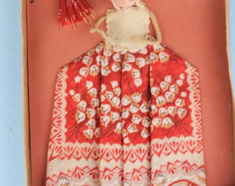 Vintage Spun Cotton Head, Hankie Doll