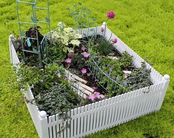 Fairy Garden - White Picket Fence