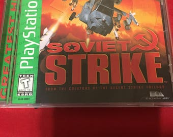 Soviet Strike Greatest Hits PlayStation 1 (PS1) Videogame Complete,Tested!