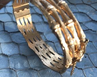Napier vintage gold hinged bracelet