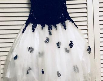 prom dress // black&white