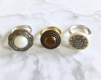 Shank Button Wire Ring