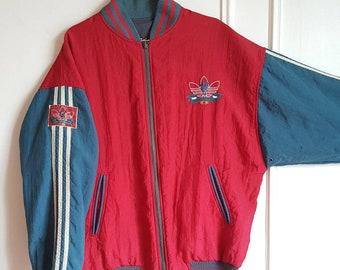 "Reversible ""Liverpool FC"" Adidas jacket Vintage 90s size L (L/XL) Rare."