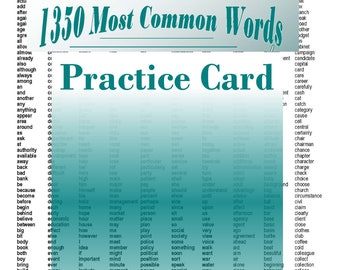 Practice Card - For 800 Most Common Depo Phrases - All 800 Phrases on a 2 pages