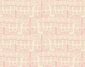 SALE - EMMY GRACE by Bari J for Art Gallery Fabrics - Little Town Glee - 1 Yard - Quilting Weight Cotton