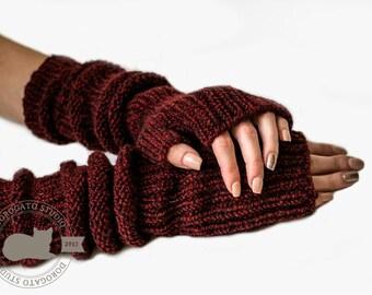 Knit Gloves Pattern, Fingerless Gloves Pattern, Glove Mittens Pattern, Knit Gloves, Instant Download /6002/