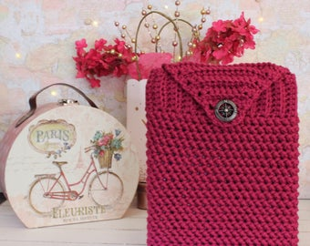 Crochet Take Away Tote - Rich Orchid